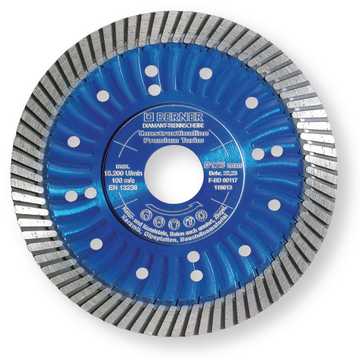 Disque diamant Constructionline 125x22,2 Premium Turbo